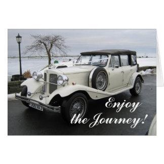 Aprecie o carro da viagem cartão comemorativo