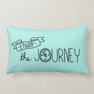 Aprecie o travesseiro decorativo da viagem