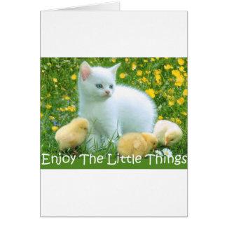 Aprecie os animais bonitos das coisas pequenas cartão comemorativo