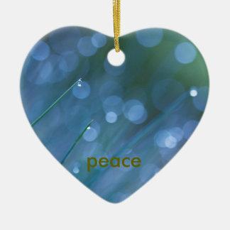 aprecie & paz ornamento de cerâmica coração