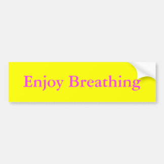Aprecie respirar adesivo para carro