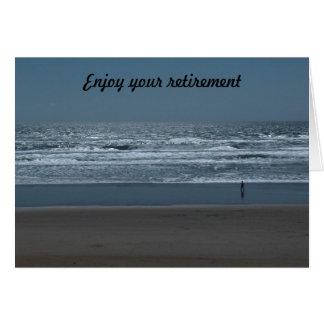 Aprecie sua aposentadoria cartão comemorativo