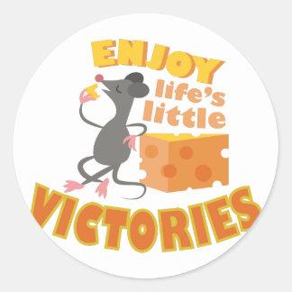 Aprecie vitórias adesivo
