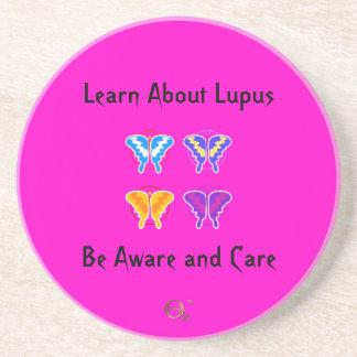Aprenda sobre o lúpus - seja ciente e cuidado porta copos