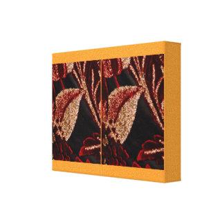 Apresentação dourada da pétala da flor de Brown Impressão Em Tela