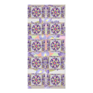 Apresentação SANTAMENTE da flor da ÍRIS holandesa  10.16 X 22.86cm Panfleto
