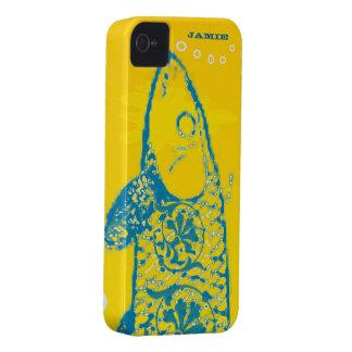 Aqua colorido bonito e peixes amarelos capinha iPhone 4
