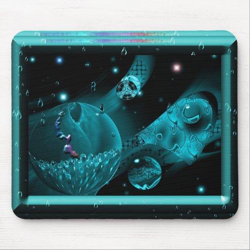 Aqua no espaço mousepads