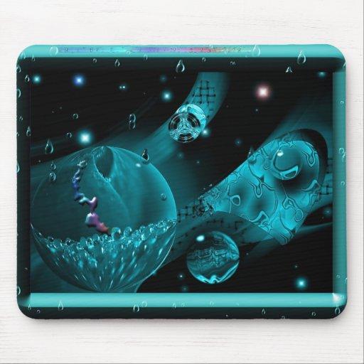 Aqua no espaço mouse pads