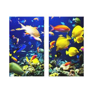 Aquário dos peixes impressão em tela