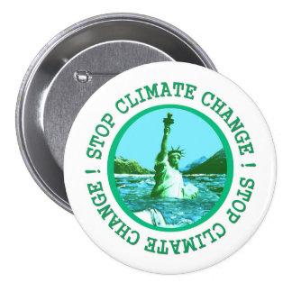 Aquecimento global das alterações climáticas bóton redondo 7.62cm