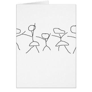 Aquela não é minha figura família da vara… cartão comemorativo