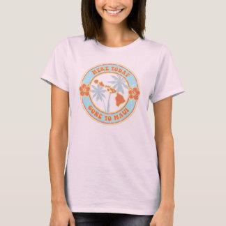 Aqui hoje, ido ao t-shirt das senhoras de Maui