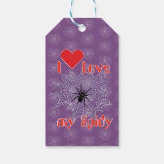 Aranha de cruz na rede aderente de presente