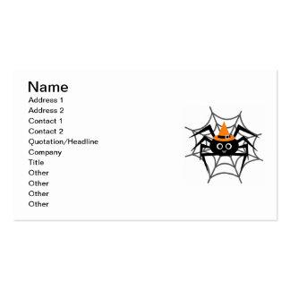 Aranha do Dia das Bruxas no camiseta e nos Cartão De Visita