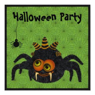 Aranha do milho de doces & partido engraçados do convite quadrado 13.35 x 13.35cm