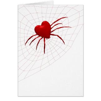Aranha engraçada do Esfera-Tecelão Cartão