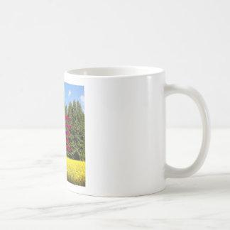 Árboles y flores 18.02.06 de Cielo Caneca De Café