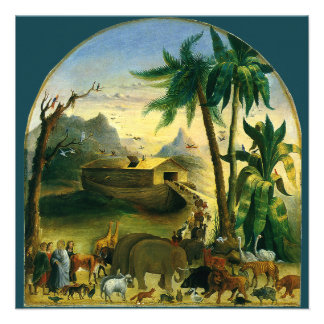 Arca de Noahs, Hidley, arte religiosa do Victorian Convites Personalizados