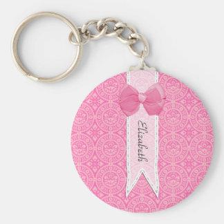 Arco bonito do damasco cor-de-rosa bonito do chaveiro