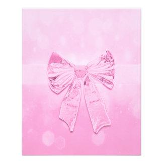 Arco cor-de-rosa bonito flyer 11.43 x 14.22cm
