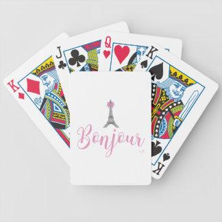 Arco da torre de Bonjour-Eiffel original Baralhos Para Poker