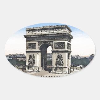 Arco do Triunfo - de l'Etoile Adesivo Oval