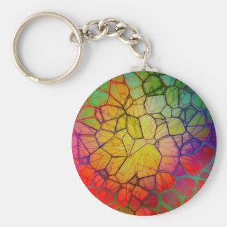 Arco-íris #2 abstrato chaveiro