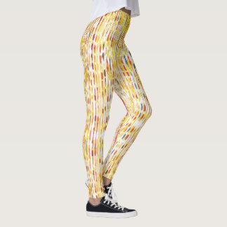 Arco-íris colorido caneleiras coloridas do teste leggings