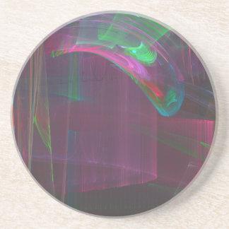 Arco-íris da música porta copos de arenito