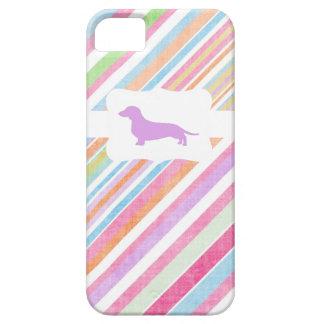Arco-íris desvanecido w/Dachshund Capas Para iPhone 5