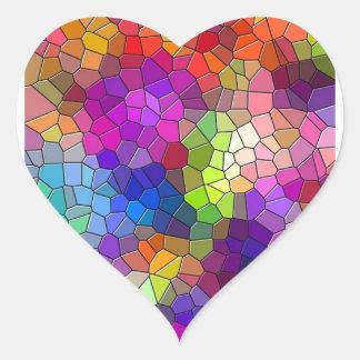 Arco-íris do azulejo de mosaico adesivo coração