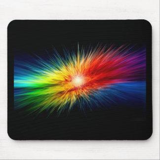 Arco-íris do espaço mouse pad