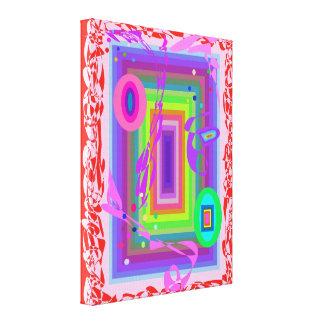Arco-íris dos parabéns colorido impressão em canvas