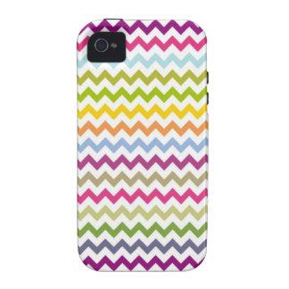 Arco-íris feminino Chevron Capas Para iPhone 4/4S