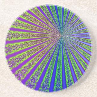 Arco-íris hipnótico porta copos de arenito