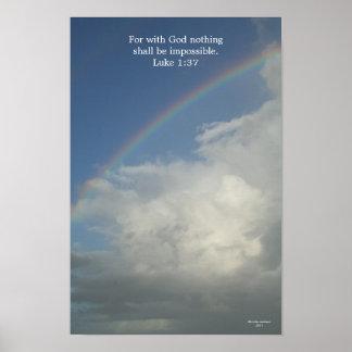 Arco-íris, para com o deus Não há impossíveis Posters