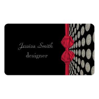 Arco vermelho das bolinhas elegantes profissionais modelo de cartões de visita