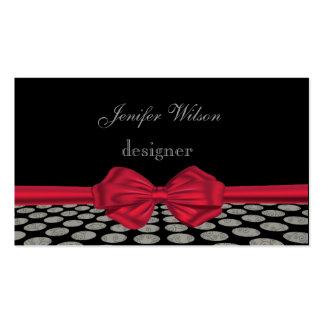 Arco vermelho das bolinhas elegantes profissionais modelos cartão de visita