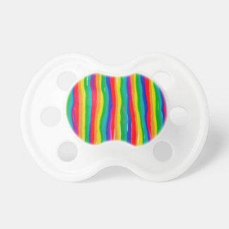 Arcos-íris pintados chupeta