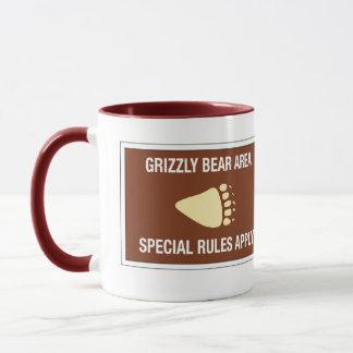 Área do urso de urso, sinal, Wyoming, E.U. Caneca