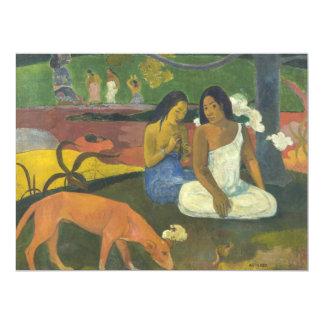Arearea - Joyousness por Paul Gauguin Convite