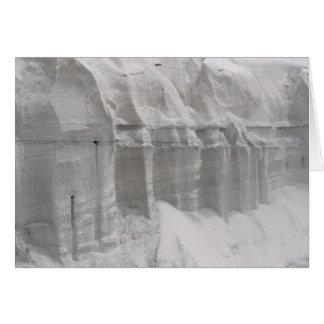 Areia Sculpted Notecard Cartão