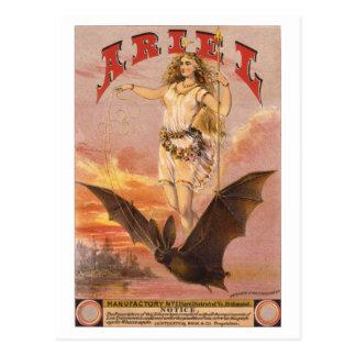 Ariel em um bastão cartão postal