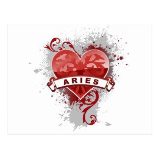 Aries do coração cartão postal