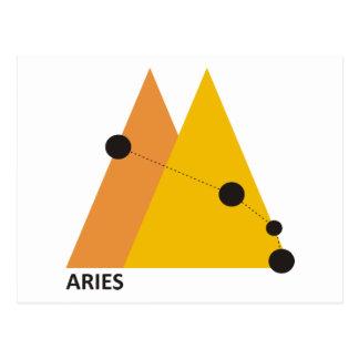 Aries do zodíaco cartão postal