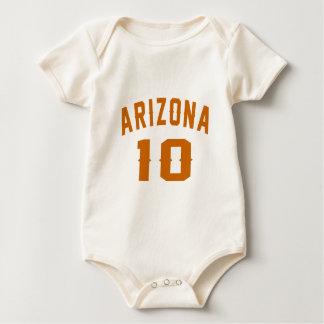 Arizona 10 designs do aniversário babador