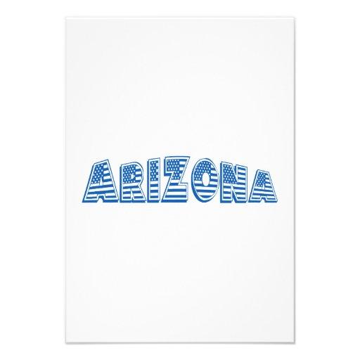 Arizona azul da bandeira americana convites