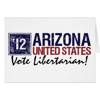 Arizona do vintage do libertário do voto em 2012 - cartão comemorativo