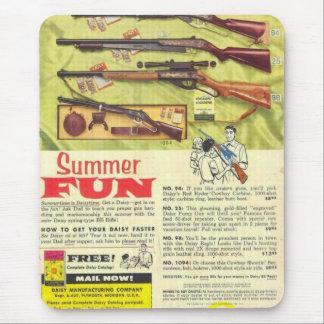 Arma do divertimento do verão mouse pads